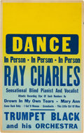 Music Memorabilia:Posters, Ray Charles Concert Poster (1956). Very Rare....