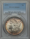 Morgan Dollars: , 1879 $1 MS64+ PCGS. PCGS Population: (4036/1395 and 156/99+). NGC Census: (4163/754 and 69/23+). CDN: $130 Whsle. Bid for p...