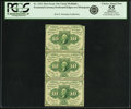 Fractional Currency:First Issue, Fr. 1241 10¢ First Issue Vertical Strip of Three PCGS Choice About New 55 Apparent.. ...
