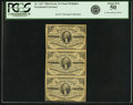 Fractional Currency:Third Issue, Fr. 1227 3¢ Third Issue Vertical Strip of Three PCGS About New 50.. ...