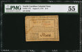"Colonial Notes:North Carolina, North Carolina August 8, 1778 $1/2 ""Behold! A New World"" PMG AboutUncirculated 55.. ..."