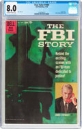 Silver Age (1956-1969):Miscellaneous, Four Color #1069 The FBI Story (Dell, 1959) CGC VF 8.0 Off-white to white pages....