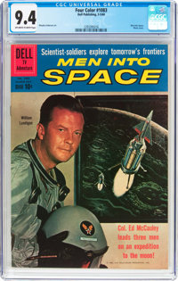 Four Color #1083 Men Into Space (Dell, 1960) CGC NM 9.4 Off-white to white pages