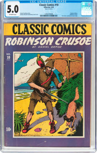 Classic Comics #10 Robinson Crusoe - Original Edition (Gilberton, 1943) CGC VG/FN 5.0 Off-white pages