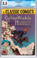 Golden Age (1938-1955):Classics Illustrated, Classic Comics #12 Rip Van Winkle and the Headless Horseman - Original Edition (Gilberton, 1943) CGC FN- 5.5 Cream to off-whit...