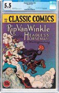 Classic Comics #12 Rip Van Winkle and the Headless Horseman - Original Edition (Gilberton, 1943) CGC FN- 5.5 Cream to of...
