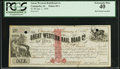 Obsoletes By State:Iowa, Camanche, IA - Great Western Rail Road Co. $1 Jan. 1, 1858 Oakes20-1. ...