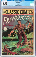 Golden Age (1938-1955):Horror, Classic Comics #26 Frankenstein - HRN 30 (Gilberton, 1946) CGCFN/VF 7.0 Cream to off-white pages....
