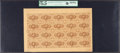 Fractional Currency:First Issue, Fr. 1230 5¢ First Issue Uncut Sheet of Twenty PCGS Choice About New 58PPQ.. ...