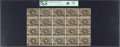 Fractional Currency:Second Issue, Fr. 1232 5¢ Second Issue Uncut Sheet of Twenty PCGS Apparent Choice About New 55.. ...