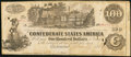 "Confederate Notes:1862 Issues, ""Issued San Antonio May 18/63"" T39 $100 1862 PF-5 Cr. 291.. ..."