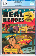 Golden Age (1938-1955):Non-Fiction, Real Heroes Comics #7 (Parents' Magazine Institute, 1942) CGC VF+8.5 Off-white pages....