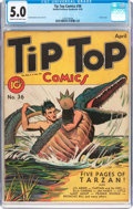 Golden Age (1938-1955):Miscellaneous, Tip Top Comics #36 (United Features Syndicate/Standard, 1939) CGC VG/FN 5.0 Cream to off-white pages....