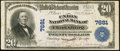National Bank Notes:West Virginia, Clarksburg, WV - $20 1902 Plain Back Fr. 650 The Union NB Ch. #7681. ...