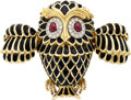 Estate Jewelry:Brooches - Pins, Diamond, Ruby, Enamel, Gold Clip-Brooch. ...