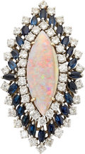 Estate Jewelry:Rings, Opal, Diamond, Sapphire, Gold Ring. ...