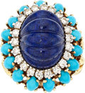 Estate Jewelry:Rings, Lapis Lazuli, Diamond, Turquoise, Enamel, Gold Ring, La Triomphe....