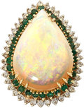 Estate Jewelry:Rings, Opal, Diamond, Emerald, Gold Ring. ...