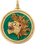 Estate Jewelry:Pendants and Lockets, Diamond, Multi-Stone, Gold Pendant. ...