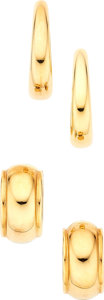 Estate Jewelry:Earrings, Gold Earrings, Tiffany & Co.. ... (Total: 4 Items)