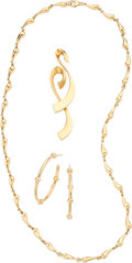 Estate Jewelry:Lots, Gold Jewelry, Paloma Picasso, Elsa Peretti for Tiffany & Co. . ... (Total: 4 Items)