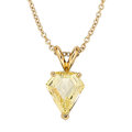 Estate Jewelry:Pendants and Lockets, Fancy Yellow Diamond, Gold Pendant-Necklace. ...