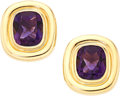 Estate Jewelry:Earrings, Amethyst, Gold Earrings, Paloma Picasso for Tiffany & Co. . ...(Total: 2 Items)