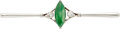 Estate Jewelry:Brooches - Pins, Jadeite Jade, Diamond, Platinum-Topped Gold Brooch. ...