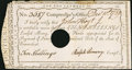 Colonial Notes:Connecticut, Connecticut Interest Certificate 10 Shillings December 10, 1789Anderson CT-51 Very Fine.. ...
