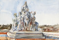 Fine Art - Work on Paper:Watercolor, Reginald Marsh (American, 1898-1954). Study for SculpturalGroup. Watercolor on paper. 15-1/4 x 22-3/4 inches (38.7 x57...
