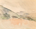 Fine Art - Work on Paper:Watercolor, John Marin (American, 1870-1953). Hoosac Mountain Country,1918. Watercolor on paper. 12-1/4 x 15-1/2 inches (31.1 x 39....
