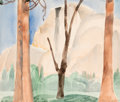 Fine Art - Work on Paper:Watercolor, William Zorach (American, 1887-1966). Half Dome, YosemiteValley, 1920. Watercolor on paper. 13 x 15-1/4 inches (33 x38...