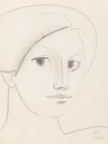 Fine Art - Work on Paper:Drawing, Françoise Gilot (French, b. 1921). Happy Thoughts, 1945.Pencil on paper. 12-1/4 x 9-1/4 inches (31.1 x 23.6 cm) (sheet)...