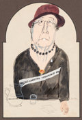 Works on Paper, Ben Shahn (American, 1898-1969). Women's Christian Temperance Union. Watercolor and gouache on paper. 7-3/4 x 5-1/4 inch...