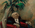 Fine Art - Painting, American:Modern  (1900 1949)  , William Gropper (American, 1897-1977). The Old Tycoon. Oilon canvas. 16 x 20 inches (40.6 x 50.8 cm). Signed lower righ...