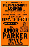 Music Memorabilia:Posters, Junior Parker Revue Barbara's Peppermint Lounge Concert Poster(1969). Extremely Rare....