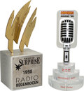Music Memorabilia:Awards, Backstreet Boys - Popcorn Magazine Award and RadioRegenbogen Award Presented To Nick Carter (1997,1999).... (Total: 2)