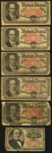 Fractional Currency:Fifth Issue, Fifth Issue 25¢; 50¢ (5) About Good or Better.. ... (Total: 6notes)