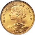 Chile, Chile: Republic gold 100 Pesos 1961-So MS66 NGC,...