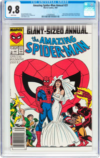 The Amazing Spider-Man Annual #21 (Marvel, 1987) CGC NM/MT 9.8 White pages