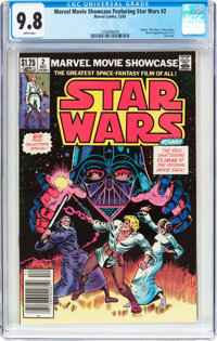 Marvel Movie Showcase Featuring Star Wars #2 (Marvel, 1982) CGC NM/MT 9.8 White pages