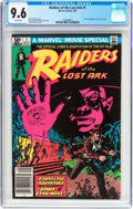 Modern Age (1980-Present):Miscellaneous, Raiders of the Lost Ark #1 (Marvel, 1981) CGC NM+ 9.6 White pages....
