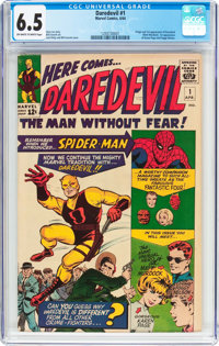 Daredevil #1 (Marvel, 1964) CGC FN+ 6.5 Off-white to white pages