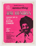 Music Memorabilia:Posters, Jimi Hendrix Boston Common Cancelled Concert Handbill (1969).Rare....