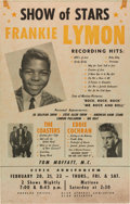 Music Memorabilia:Posters, Eddie Cochran/Frankie Lymon/The Coasters Civic Auditorium Concert Poster (1958). Very Rare....