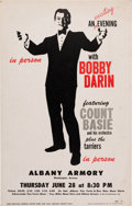Music Memorabilia:Posters, Bobby Darin/Count Basie Albany Armory Concert Poster (1962)....