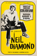 Music Memorabilia:Posters, Neil Diamond Seattle Center Coliseum Concert Poster (KOL Radio& Northwest Releasing Presents, 1971). Rare....