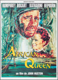 """Movie Posters:Adventure, The African Queen (Connaissance du Cinema, R-1990s). French Grande(46.25"""" X 62.5""""). Adventure.. ..."""