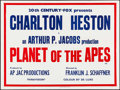 "Movie Posters:Science Fiction, Planet of the Apes (20th Century Fox, 1968). British Quad (30"" X40"") Text Style. Science Fiction.. ..."