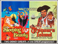 "Movie Posters:Animation, Sleeping Beauty/Treasure Island Combo (Walt Disney Productions, R-1970s). British Quad (30"" X 40""). Animation.. ..."